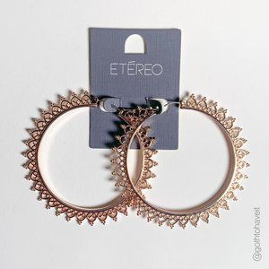 NEW Etéreo Rosegold Hoop Earrings